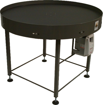 Industrial Turntables with Painted Mild Steel Frame Construction